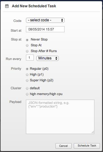 IronWorker: Scheduling Tasks with Scheduler   Iron io Dev Center