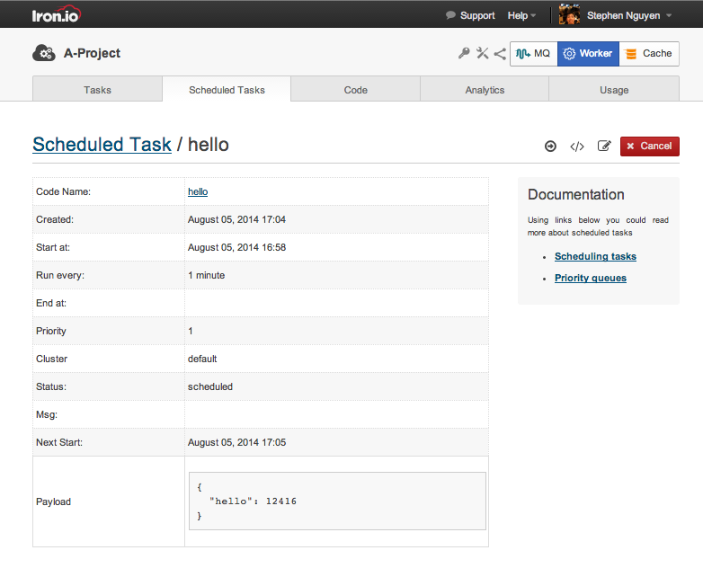 IronWorker: Scheduling Tasks with Scheduler | Iron io Dev Center